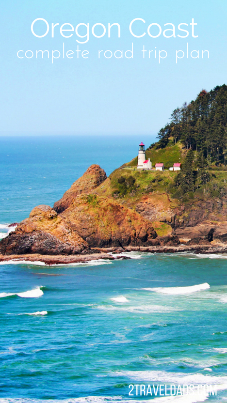 Complete Oregon Coast road trip itinerary pin - 2 Travel Dads