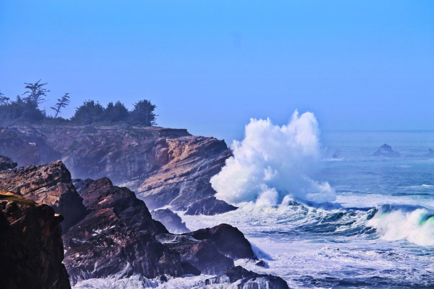 Crashing Waves at Cape Arago Shore Acres State Park Coos Bay Oregon Coast 1