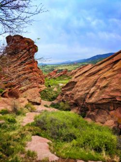 Hiking Trail in Red Rocks Park Denver Colorado 1