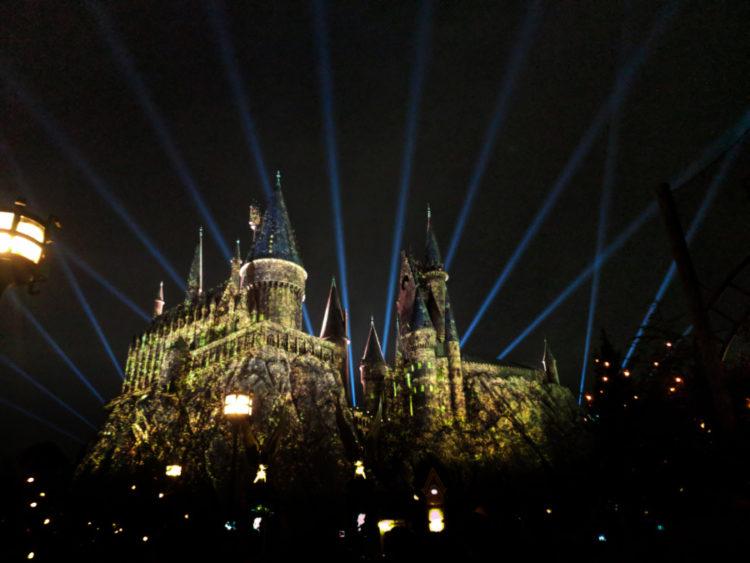 Hogwarts at Night Wizarding World of Harry Potter Islands of Adventure Universal Orlando 9