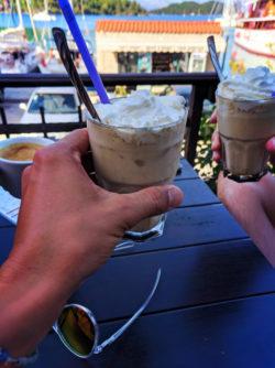 Iced Coffee in Polace on the Isle of Miljet Croatia 1
