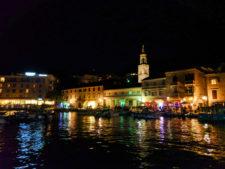 Marina at night in Hvar Croatia 2