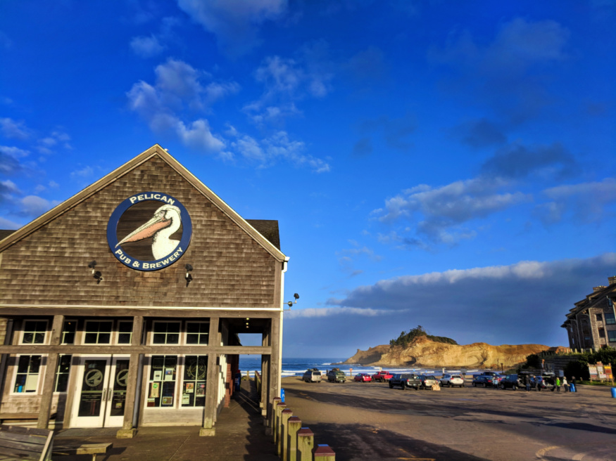 Pelican Brewery at Cape Kiwanda Pacific City Oregon Coast 1