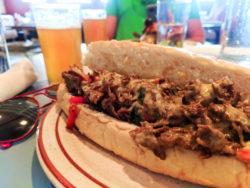 Philly Cheesesteak at Steubens Uptown lunch spot Downtown Denver Colorado 1