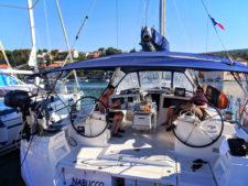 Pride Sailing Holidays sailboat in port at Milna Brac Croatia 2