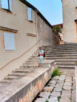 Rob Taylor at Church at Milna Brac Croatia 1