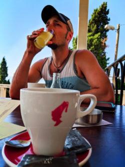 Rob Taylor with Orangina above Old Town Split Croatia 1