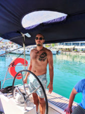Rob Taylor sailing out of Old Town Split Croatia 1