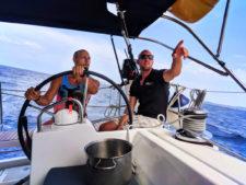 Rob Taylor skippering Pride Sailing Holiday outside of Korcula Croatia 1