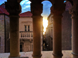Sunset from belltower in Korcula Croatia 1