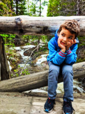 Taylor Family Hiking at Alberta Falls Rocky Mountain National Park Colorado 2