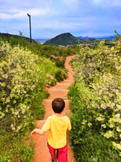 Taylor Family Hiking in Red Rocks Park Denver Colorado 2