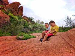 Taylor Family Hiking in Red Rocks Park Denver Colorado 3