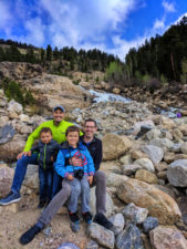 Taylor Family at Adams Falls in Rocky Mountain National Park 4
