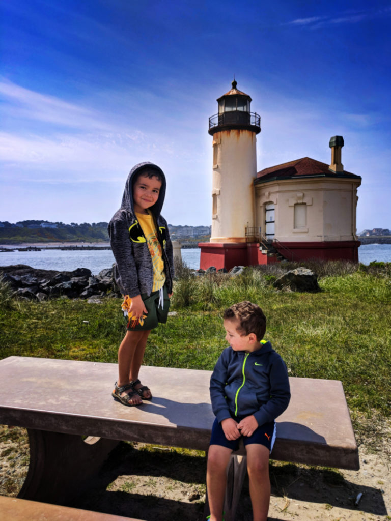 Taylor Family at Coquille River Lighthouse Bandon Oregon Coast 3