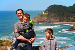Taylor Family at Haceta Head Lighthouse viewpoint Florence Oregon Coast 1