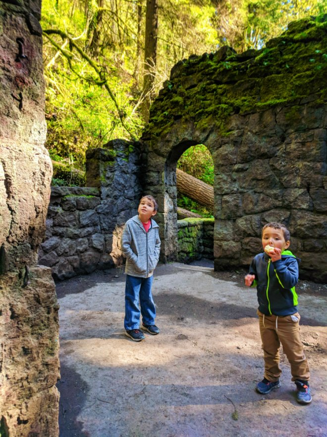 Taylor Family hiking Macleay Trail Witch's Castle Portland Oregon 7