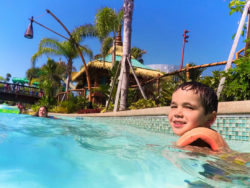 Taylor Family in Lazy River at Universal Volcano Bay Water Theme Park Orlando 5