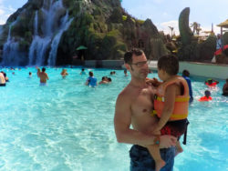 Taylor Family in Wave Pool at Universal Volcano Bay Water Theme Park Orlando 5