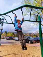 Taylor Family on playground downtown Estes Park Colorado 1