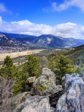 View of Valley in Rocky Mountain National Park Colorado 1