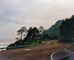 Winding road at Cape Perpetua Florence Oregon Coast 1