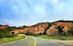 Winding road into Red Rocks Park Denver Colorado 1