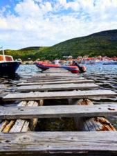 Wooden dock on the bay in Vis Croatia 1