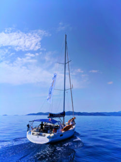 Yoga Sailing Holidays sailboat off Hvar Croatia 1