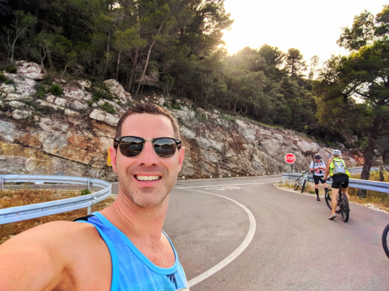 Chris Taylor riding bikes at Miljet National Park Isle of Miljet Croatia 1