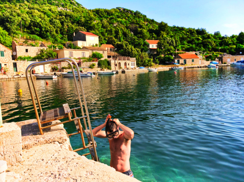 Chris Taylor swimming with Pride Sailing Holidays in Okuklje on Isle of Miljet Croatia 1
