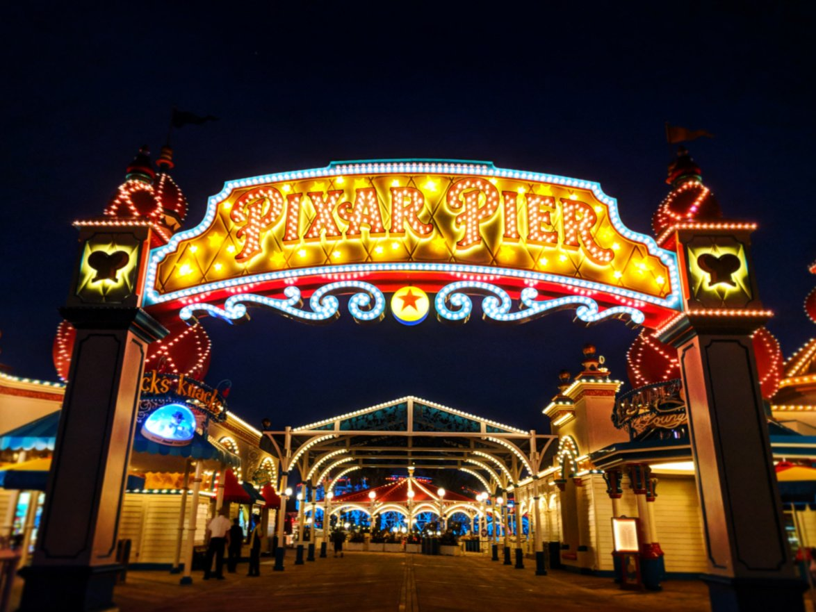 Entrance to Pixar Pier Disneys California Adventure 3