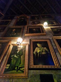 Living Paintings inside Hogwarts Wizarding World of Harry Potter Universal Orlando Florida 1
