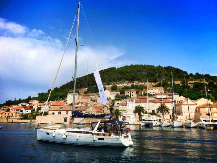 Med Sailing Holidays sailboat in port of Vis Croatia 1