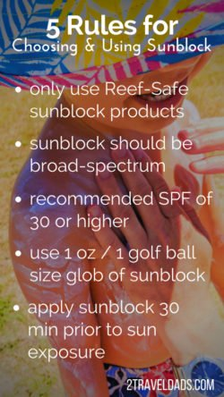 Rules for sunblock usage pin