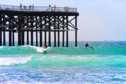 Surfers at Pacific Beach Pier San Diego California 1