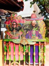 Taylor Family Face Cutout at Fiesta de Reyes Old Town San Diego California 2