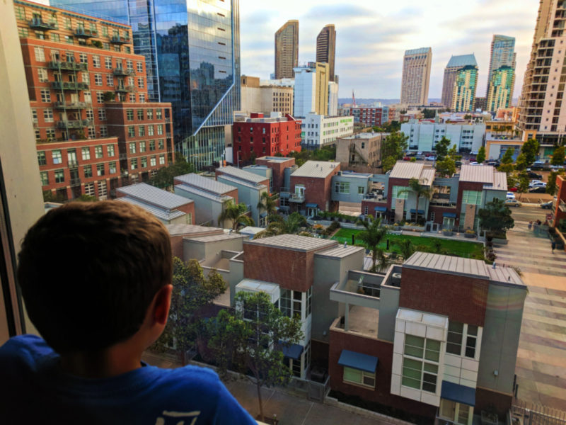 Taylor Family and View of downtown from Hotel Indigo San Diego Gaslamp 1