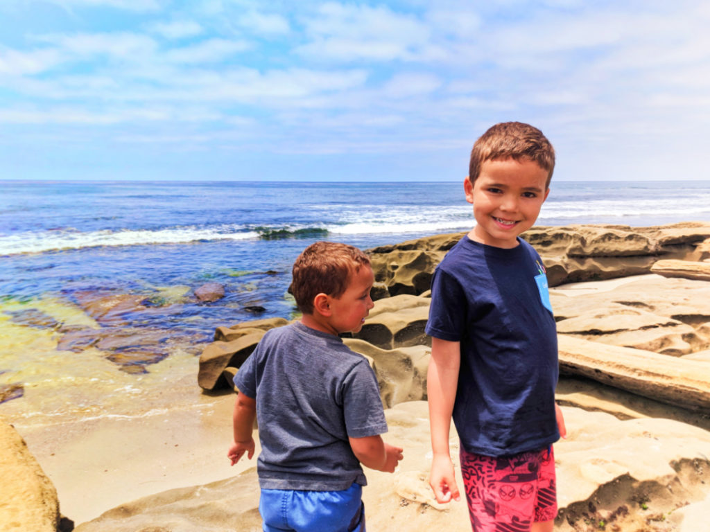 Taylor Family at La Jolla Tide Pools San Diego California 4
