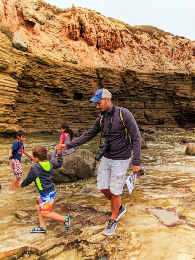 Taylor Family in Tide pools at Cabrillo National Monument San Diego