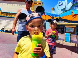 Taylor Family eating ice cream on Pixar Pier Disneys California Adventure 3
