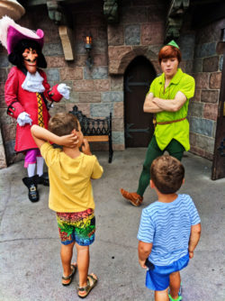 Taylor Family meeting Peter Pan Captain Hook Fantasyland Disneyland Anaheim California 1