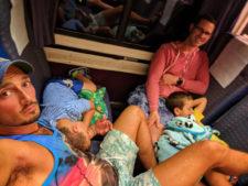 Taylor Family on Amtrak Surfliner Anaheim to San Diego California 1