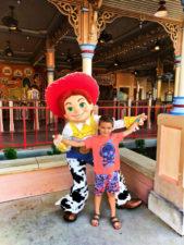 Taylor Family with Jessie at Toy Story Mania Pixar Pier Disneys California Adventure 1