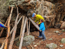 Taylor family at YMCA of the Rockies Outdoor Survival class Estes Park Colorado 3