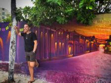 BJ FIAB heart street art of Isla Mujeres Quintana Roo Mexico 1