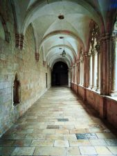 Colonnade at Dominican Monastery by Eastern Gate Old Town Dubrovnik Croatia 1