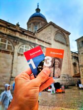 Dubrovnik in the rain Dubrovnik cards in Old Town tourist attractions Croatia 1