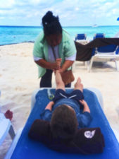 Getting massage on beach on Isla Mujeres Quintana Roo Mexico from FIAB 1