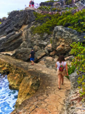 Punta Sur cliffside trail Isla Mujeres Quintana Roo Mexico from FIAB 1